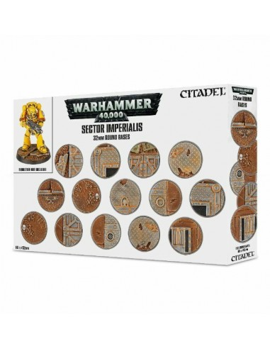 Sector Imperialis: socles ronds de 32mm