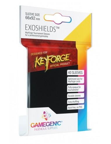 Keyforge : 40 Pochettes Exoshields Noir